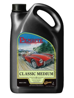 penrite hpr40 high performance 25w/70 classic motor oil (5 litres, 4 x 5 litres, 20 litre drum)