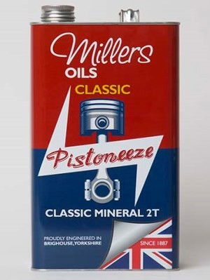 SAE 40 Mineral 2 stroke oil for all classic and vintage 2 stroke engines (1 litre and 5 litre)