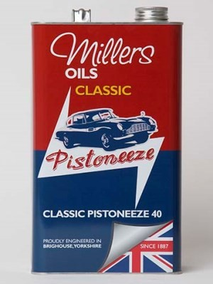 Monograde detergent oil for post vintage and classic engines (5 litres and 4 x 5 litres).