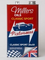 semi synthetic engine oil for classic performance and sports car engines (5 litres,4 x 5 litres, 25 litre drum)