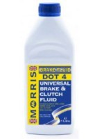 A hydraulic fluid compatible with brake fluids of DOT 3 and DOT 4 specifications (500ml, 1 litre)
