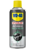 wd-40 motorbike wax and polish provides a deep glossy shine with no streaks