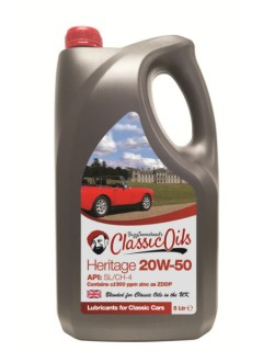 classic oils heritage 20w50 from £15.50 per 5 litre!
