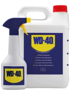 wd-40 5litres with applicator spray bottle