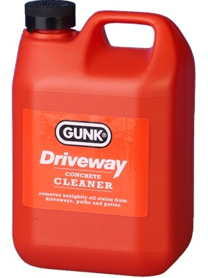 Gunk driveway cleaner to remove stains from driveways for Best way to remove oil from concrete driveway